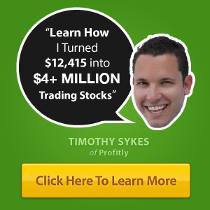 Tim Sykes turn to $4Mill in trading stocks